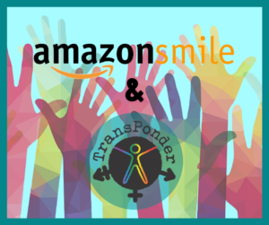 amazon smile logo and TP logo with tortoise.